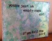 Acrylic Painting on Canvas Tori Amos Quote/Lyric 11 x 14