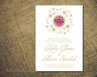 Wedding Program PRECIOUS GEM Printable Design Template Posh Modern Ceremony Catholic Jewish Order of Service New Gold Trend 2017 Urban Chic
