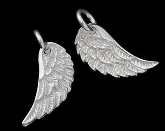 2 of  925 Sterling Silver Angel Wing Charms 6x15mm. :th1831