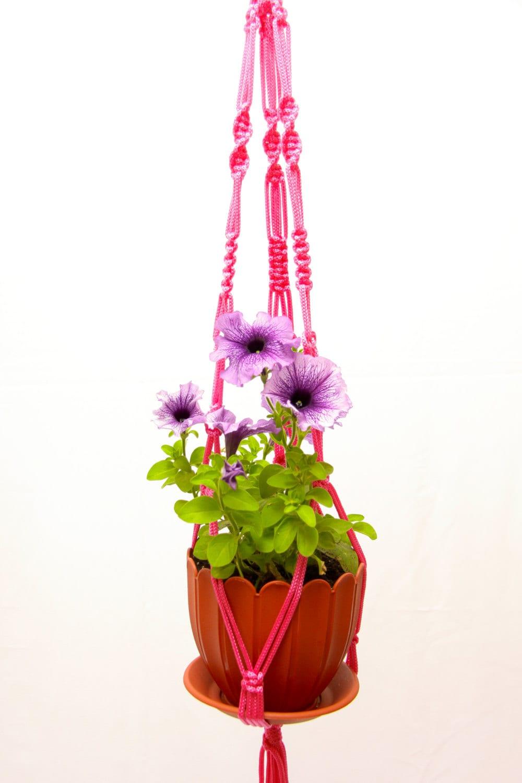 hanging planters suspension macrame 28 70cm pot. Black Bedroom Furniture Sets. Home Design Ideas