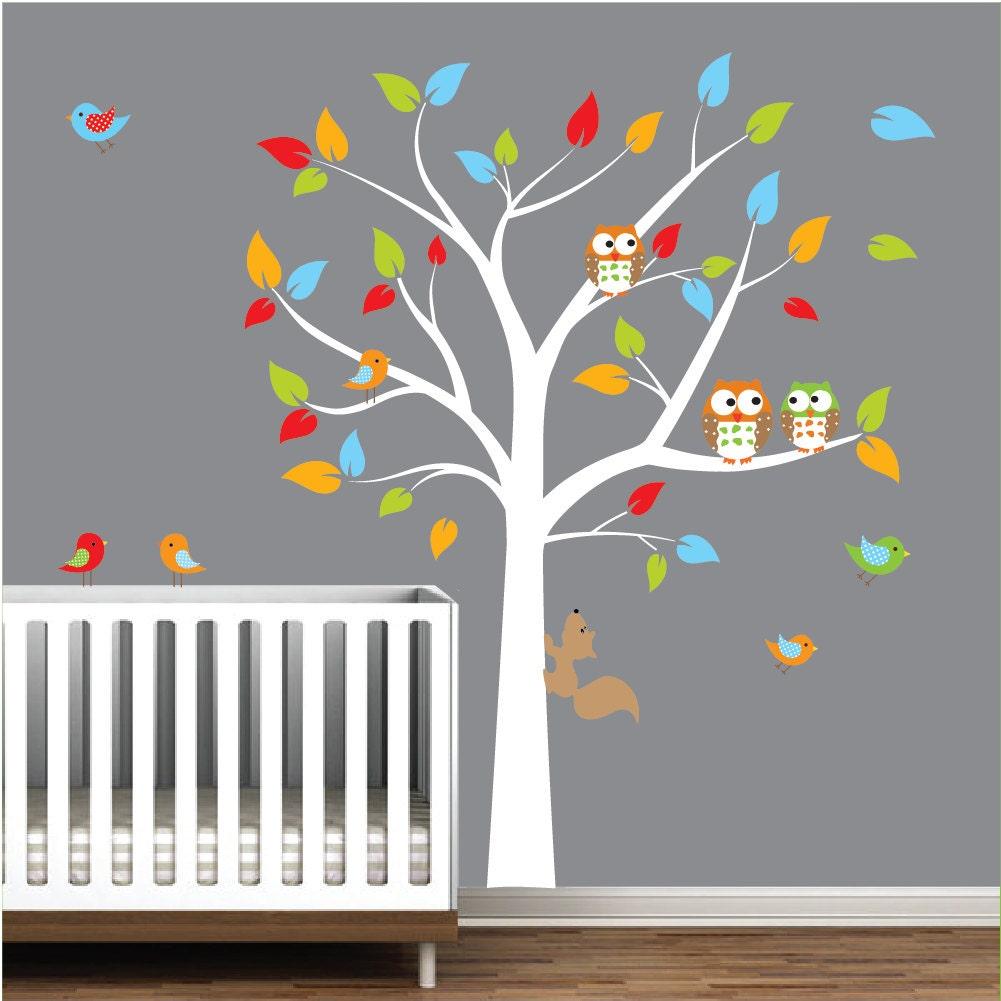 Vinyl mural autocollant arbre pour chambre denfant salle de for Autocollant mural arbre
