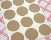 63 Blank Kraft Round Sticker Seals 1 inch