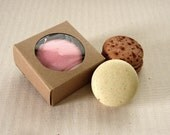 10 Mini Kraft Boxes 2 1/4 x 2 1/4 x 1 inches - Wedding Favor Box Fits Single Macaron