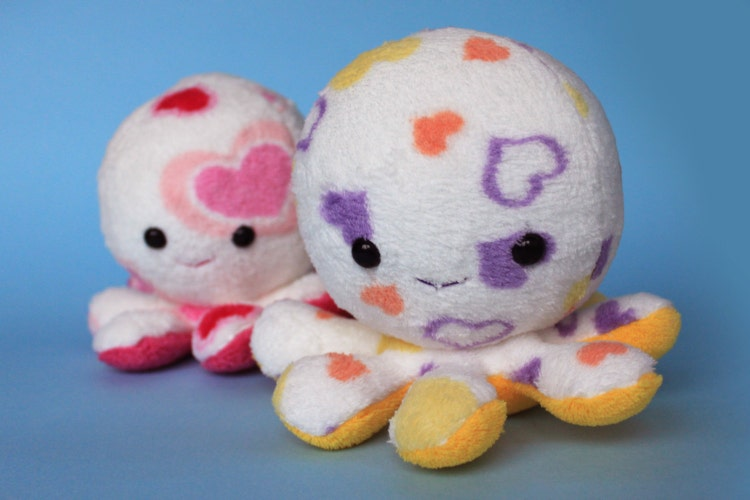 Valentine S Day Talking Toys : Valentine s day octopus plush toy by fizzimizzi on etsy