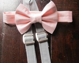 Boys Bow tie, Boys Bowtie, Boys Bowtie and Suspender Set, Bowtie and Suspender set for newborn, toddler and boys
