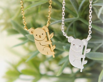 Koalas Necklace / choose your color, gold and silver
