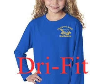 FishHawk Creek Elementary Uniform Long Sleeve Dri-Fit T-Shirt YOUTH & ADULT 3 Colors to Choose From
