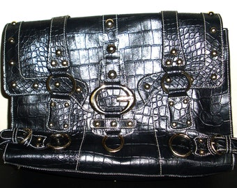 Vintage Handbag Guess Black Bag Excellent Used Condition
