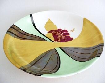Hand painted  bowl,  bone china bowl, modern design