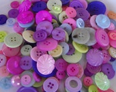 Spring Blossom Buttons, 100 Bulk Assorted Round Multi Size Crafting Sewing Buttons