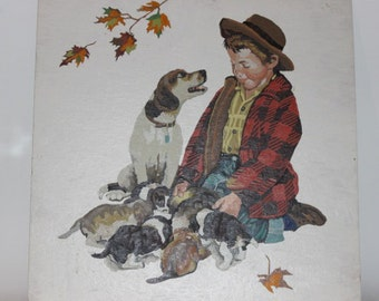 Vintage paint by number Norman Rockwell