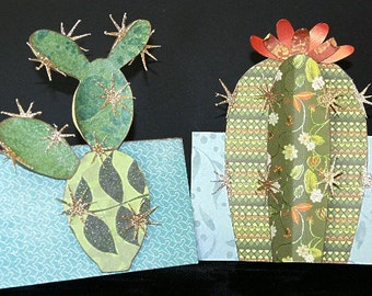 Two 3-D Cactus Cards, SVG Cutting File Kit