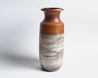 XL West German Brown Lava Vase - Floor Vase by Scheurich