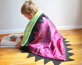Purple and Green Dragon Cuddle Blanket - for the little snuggle monster