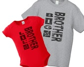 Big Brother Little Brother T-Shirts or Infant One-piece - Grunge Big Brother Shirt - Gift for Teen or Tween Big Brother