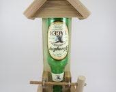Handmade Wooden Natural Western Red Cedar Beer Bottle Bird Feeder - Perfect Gift for the Bird Lover Mom Dad Grandpa Grandma - Yuengling