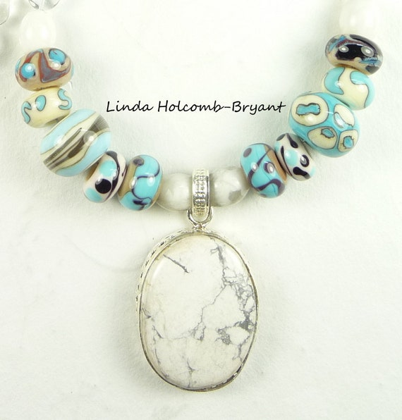 Necklace of White & Turquoise