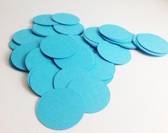 Aqua Circle Confetti - Paper Confetti - Paper Circles - 1 inch Circle - Party Decor - Table Scatter - Gender Reveal Confetti - Blue Confetti