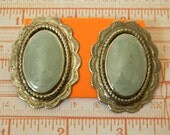 SCALLOP PRINCESS Vintage Costume Jewelry Enamel Earrings Collectible Post Mod Retro Hip