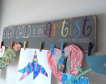 Every Child Is An Artist Children's Artwork Display Brag Board