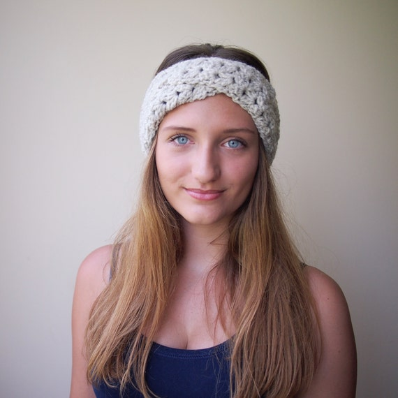 Crochet Pattern Turban Retro Headband Vintage Lace Hat