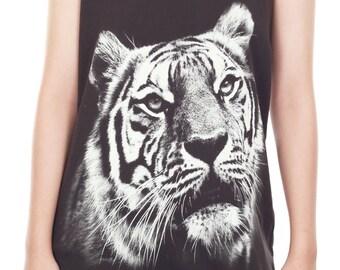 Bengal Tiger Tank Top Bengal Tiger Shirt Bengal Tiger Animal Art Design Tank Women Shirt Tunic Top Tank Top Size M,L,XL - IZJBT73