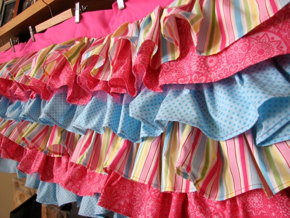 Custom Ruffle Valance with 6 Tiers