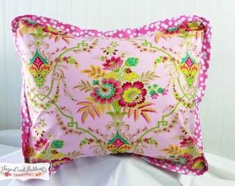 "Penelope Accent Pillow. 16""H x 20""W   Handmade Girls Custom Boutique Bedding"