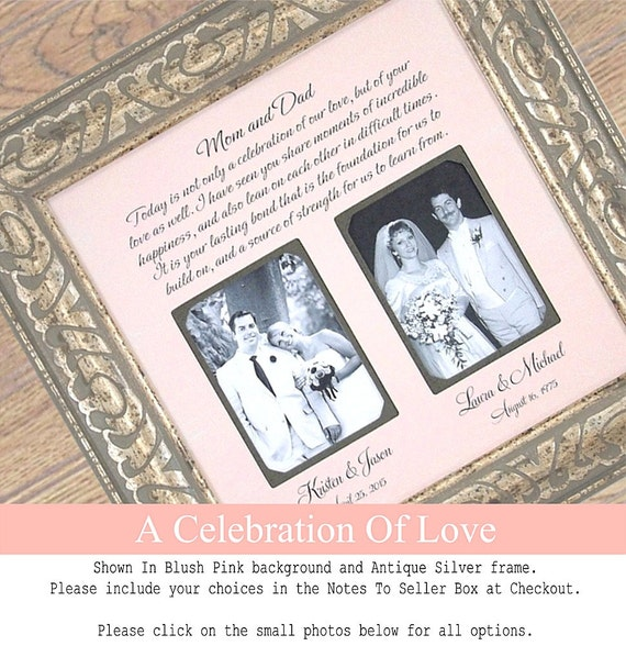 Diy Wedding Thank You Gifts For Parents : Thank You Wedding Frame, Today Is A Celebration Of Love, Parents Gift ...