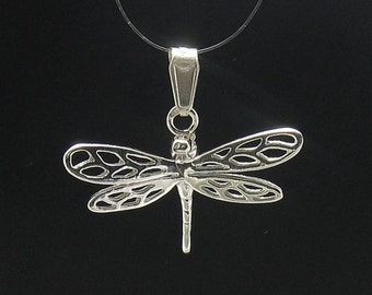 PE000557  Sterling silver pendant  charm dragonfly  925 solid