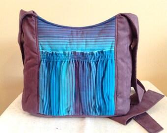 Big Bag Large Hobo Modern Babywearing Purple Tote Bag with Girasol no.25 plus FREE LANYARD