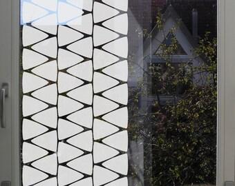 Geometric Window Privacy Film with Triangles, Geometric Privacy Decal, Privacy Film for Bathroom, Minimal Triangle Privacy Film Bathroom