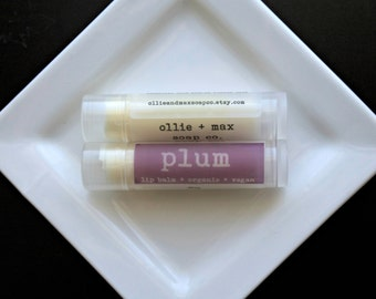 Plum Vegan Lip Balm Organic .15oz tube
