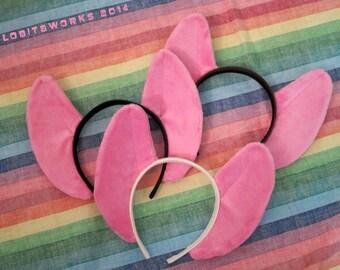 Pinkie Pie MLP Pony Cosplay Ears on a Headband - READY 2 SHIP