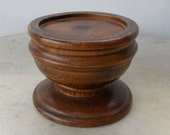 WOODEN DISPLAY STAND for Jewelry & Small Items Round with Pedestal Base