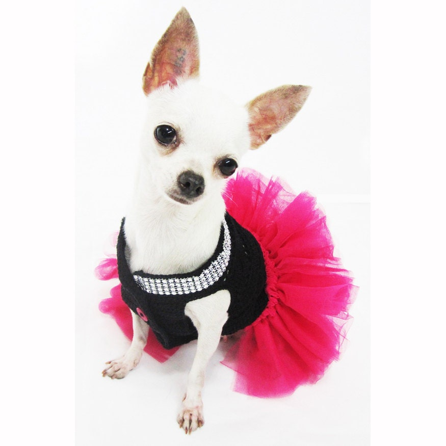 Pink Dog Clothes Pink Dog Tutu Black Pink Pet Costumes - photo#9