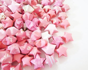 100 Coral Aurora Origami Stars
