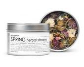 HERBAL STEAM {SPRING} - large round window tin - 2 oz - seasonal - organic - apothecary