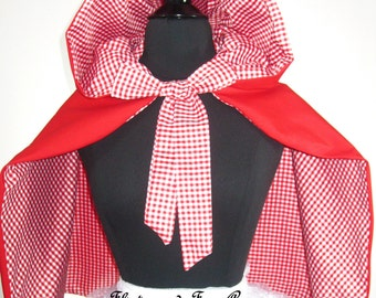 Reversible Little Red Riding Hood Cape