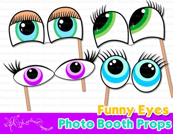 Funny Photo Booth Props, Mustache, Lips and Eyes photo booth props ...
