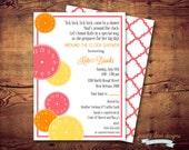 Printable Around the Clock Bridal Shower Invite (digital file) DIY Printing at home or your choice of printer