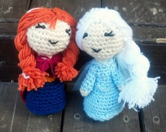 Little Elsa and Anna doll set
