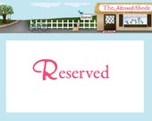 RESERVED FOR KIMBERLYARNETT - Red and Pink Gingham Print set of 8 Divider Cards