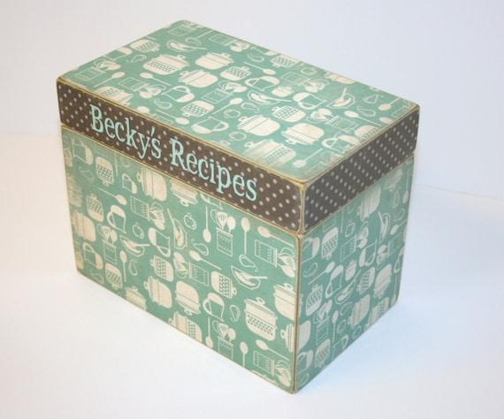 Personalized Recipe Box, 4x6 Recip Box, 4 x 6 Custom - You Design It Handmade Wooden Recipe Card Wedding Guest Book Box