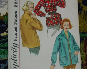 Vintage Pattern c.1957 Simplicity No.2273 Misses Jacket Size 12