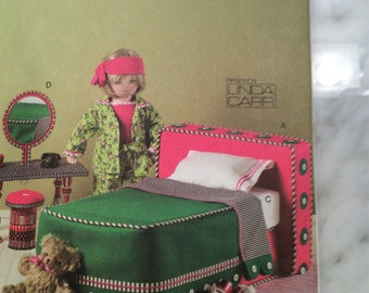 Vogue Pattern V8177 Uncut and Out of Print 18 Inch Doll Bedroom