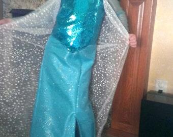 Elsa from Disney's Frozen inspired dress- Girls