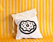 Silkscreened Doughnut Drawstring Bag