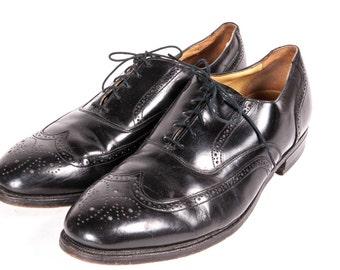 JOHNSON & MURPHY Men's Wingtip Dress Shoes Size 11D