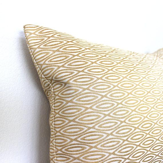 Decorative Pillow Cover 12x16 : Lumbar Pillow Cover 12x16 Gold Modern Geometric Decorative